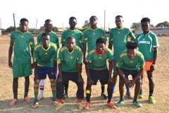 Football team in their new strips