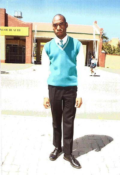 Young man from Limpopo in school uniform
