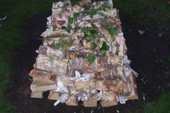 Piles of wood to be set alight