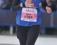 Sarah runs the marathon