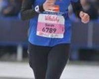 Sarah runs the marathon
