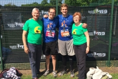 Supporters Robert and Heidrun Williamson with runners Stephen and Andy