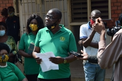 Lawrence  Banda giving a speech