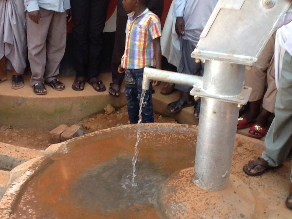 Fresh water pouring from newly installed tap