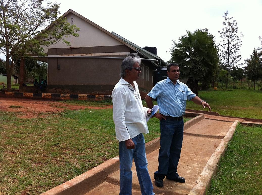 Trustee talks with Orphanage representative