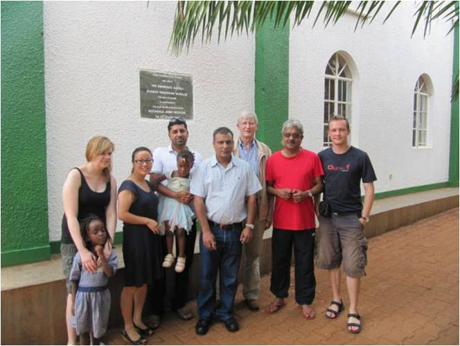 Group photo of Sunrise Africa Relief with orphanage representatives