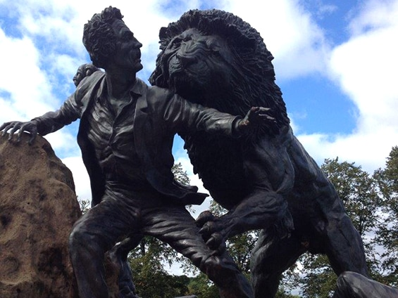 David Livingstone statue on Blantyre