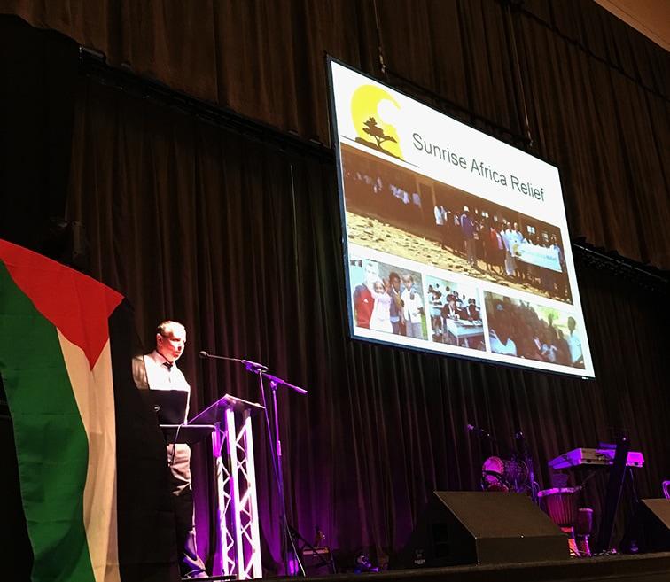Paul Currie gives a talk
