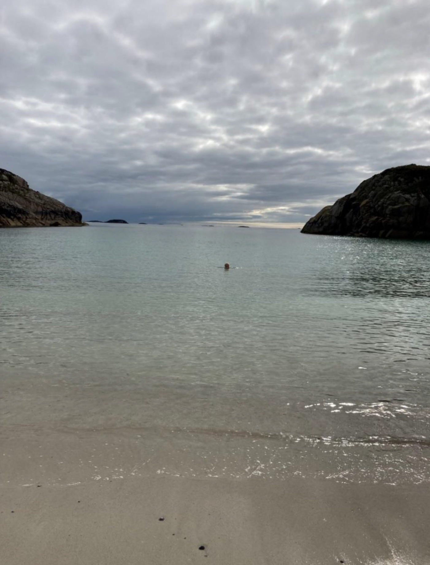 Author swimming in the sea